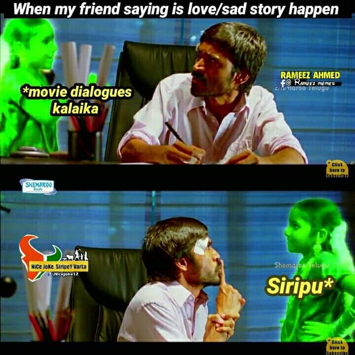 When my friend saying is love /Sad story happen meme - Tamil