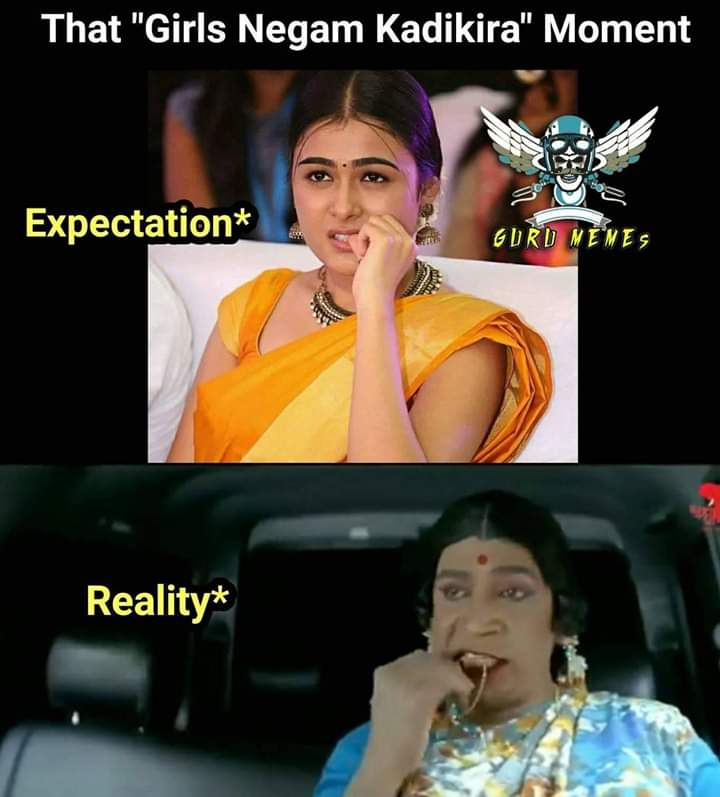 Girls Nail Biting Moment Expectation Vs Reality Meme Tamil Memes