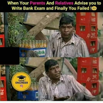List Of Best Bank Exams Tamil Memes