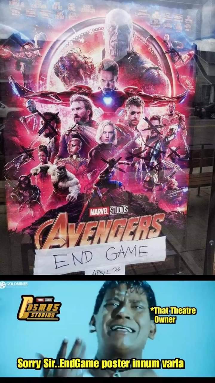 Some Theatre Avengers Endgame Poster Be Like Meme Tamil Memes