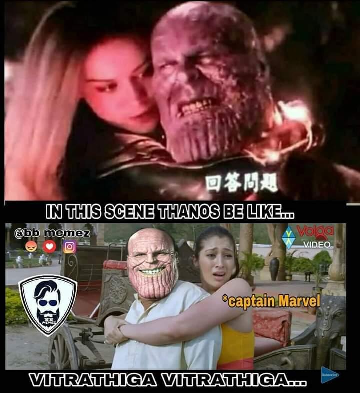 Thanos endgame meme