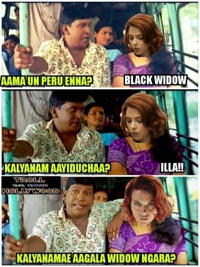 List Of Best Scarlett Johansson Tamil Memes