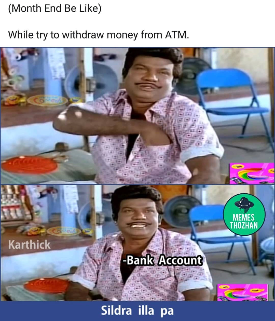Month End While Try To Withdraw Money From Atm Be Like Meme