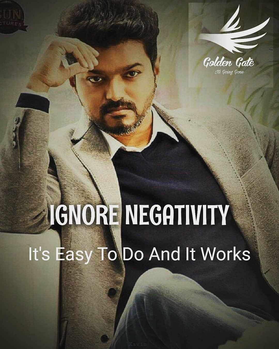 Vijay Motivation Quotes ignore negativity Meme - Tamil Memes