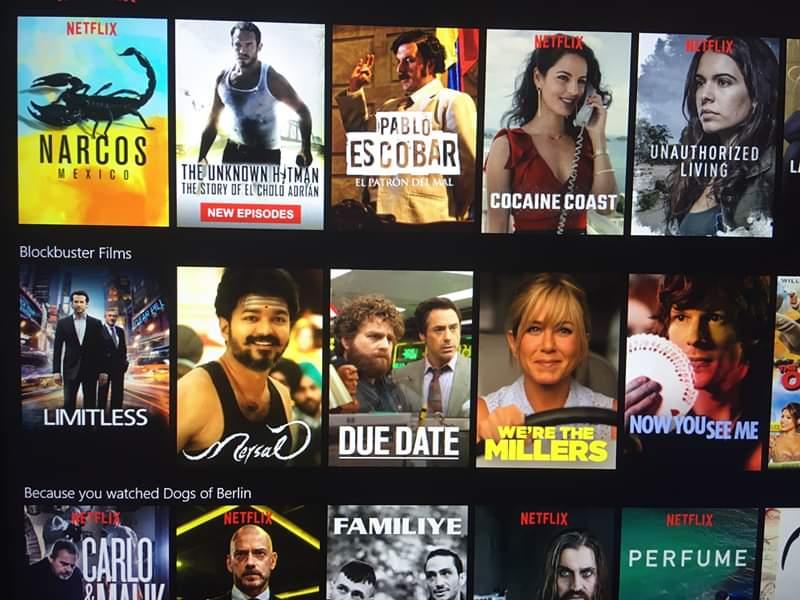 2 Best NetFlix Block Buster Films List Only One Tamil Movie Mersal