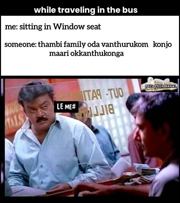 While Travelling In The Bus Sothanaigal Meme - Tamil Memes