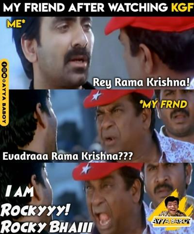 My reaction after watching KGF movie - Telugu Memes