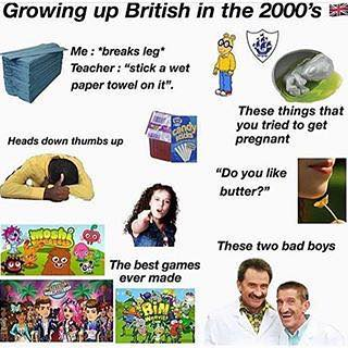 Growing Up British In The 2000 S Meme United Kingdom Memes