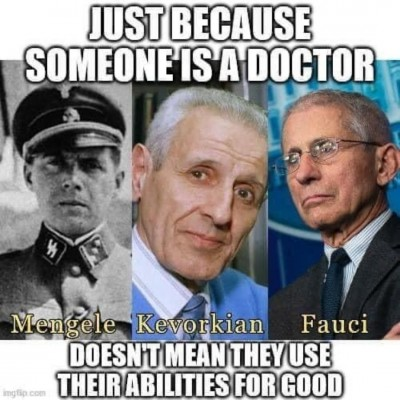 Anthony Fauci Just because someone is a Doctor meme - United States Memes
